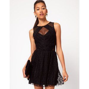 ASOS River Island Lace Cut Out Skater Dress US 2
